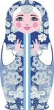 Traditionelle russische matryoshka (matrioshka) Puppen, im nationalen Artkostüm Stockbilder