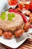 Traditionelle russische Nahrung. Aspikfleischgelee Lizenzfreies Stockfoto