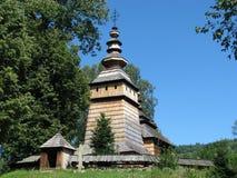 Traditionelle sakrale hölzerne Architektur Lizenzfreies Stockfoto
