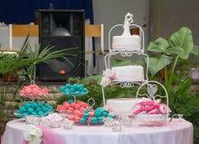 Traditionelle schöne und köstliche Hochzeitstorte Lizenzfreie Stockfotos