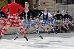 Traditionelle schottische Tänzer Edinburgh-Tätowierung Stockbilder