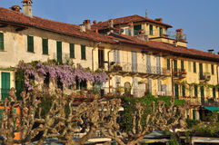 Traditionelle See Maggiore-Architektur, Italien. Stockfoto