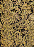 Traditionelle siamesische Blumenkunst Stockbild