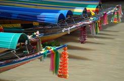 Traditionelle siamesische Boote Stockfotografie