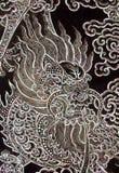 Traditionelle siamesische Kunst in der Chinease Art Stockfotos