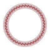 Traditionelle slawische runde Stickerei Stockbild