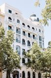 Traditionelle spanische Architektur in im Stadtzentrum gelegenem Madrid stockfotos