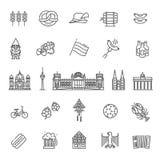 Traditionelle Symbole der Kultur, der Architektur und der Küche von Deutschland Lizenzfreies Stockbild