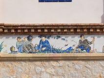 Traditionelle Szenen der Weinlese stockfotografie