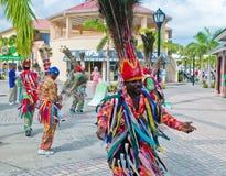 Traditionelle Tänzer in Str. Kitts Stockfotografie