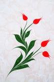 Traditionelle türkische Gestaltungsarbeit des gemarmorten Papiers Stockfotografie