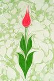 Traditionelle türkische Gestaltungsarbeit des gemarmorten Papiers lizenzfreie abbildung