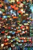 Traditionelle türkische Glaslampen Stockfoto