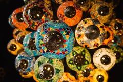 Traditionelle türkische Lampendekoration stockbilder