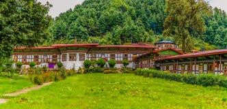 Traditionelle Tempelarchitektur von Bhutan in Bhutan Lizenzfreie Stockbilder