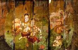 Traditionelle thailändische Artkunstgeschichten Stockbilder