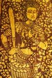 Traditionelle thailändische Artmalerei Stockbild