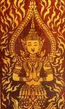 Traditionelle thailändische Artmalerei Stockfoto