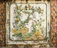 Traditionelle thailändische Kunst der Malerei auf Zement Lizenzfreies Stockbild