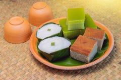 Traditionelle thailändische Nachtische für Gast in ländlichem, Thailand Lizenzfreies Stockfoto