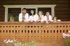 Traditionelle ukrainische Familie Stockfotografie