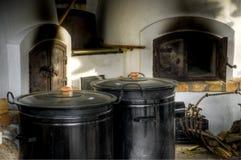 Traditionelle ungarische landwirtschaftliche Küche Stockfotografie