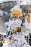Traditionelle venetianische Karnevalskostümmaske Stockbilder