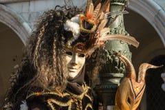 Traditionelle venetianische Karnevalskostümmaske Lizenzfreie Stockfotografie