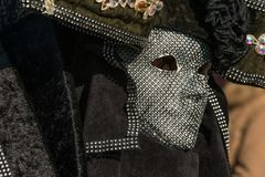 Traditionelle venetianische Karnevalskostümmaske Lizenzfreies Stockbild