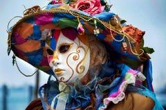 Traditionelle venetianische Karnevalsschablone Lizenzfreies Stockbild
