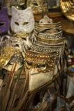 Traditionelle venetianische Karnevalsschablone Lizenzfreie Stockfotografie
