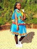 Traditionelle vorbildliche Kleidung setsonga SA Stockbild