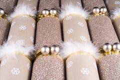 Traditionelle Weihnachtscracker Stockbild