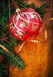 Traditionelle Weihnachtsdekoration lizenzfreie stockfotos