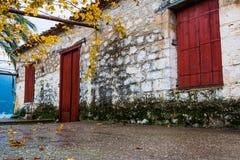 Traditionelle Weinlesehausnahaufnahme Lizenzfreies Stockfoto