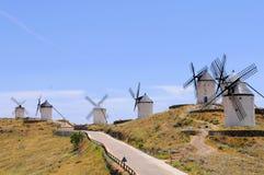 Traditionelle Windmühle von Spanien lizenzfreies stockbild