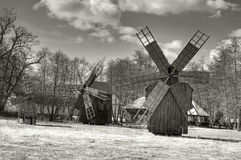 Traditionelle Windmühlen Stockbild