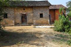 Traditionelle Wohnstruktur, Dorf Stockfotografie