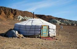 Traditionelle Wohnung von mongolischem nomadischem stockfotografie