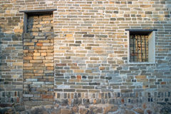 Traditionelle Ziegelsteinwand Lizenzfreie Stockfotografie