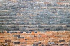 Traditionelle Ziegelsteinwand Stockfoto