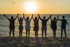 Traditioneller Abschied der Touristen zur Sonne Lizenzfreie Stockbilder