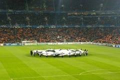 Traditioneller Anfang der Champions League-Abgleichung lizenzfreies stockbild