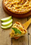 Traditioneller Apfelkuchen Stockfoto