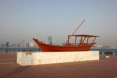 Traditioneller arabischer Dhow stockfotos