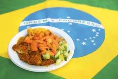 Traditioneller authentischer Acaraje Salvador Bahia Brazil Lizenzfreies Stockfoto