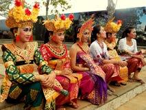Traditioneller Balinesetänzer Stockfotografie