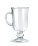 Traditioneller Becher für Irishcoffee lizenzfreie abbildung