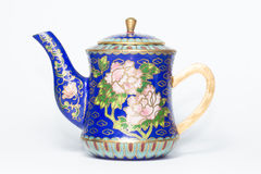 Traditioneller Chinese Cloisonneteetopf Stockbilder