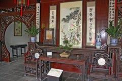 Traditioneller Chinese-Raum-Innenraum, Suzhou Stockbild
